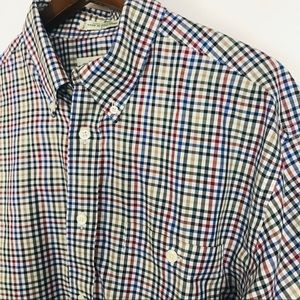 Orvis Mens Button Front Plaid Shirt Size Large